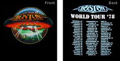- Boston - Vintage Concert T-Shirts, Rock T-Shirts,