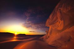 """Sunset at the Antarctic from """"A Year at the Bottom of the World"""" by Jim Mastro http://wp.me/p1H0lJ-8B"""