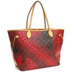 Louis Vuitton Auth M40686 Tote Bag Monogram Wave Never Full MM Rouge Mint #8436 #LouisVuitton #TotesShoppers