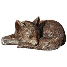 Roman Stone Resin Exclusive Sleeping Fox Statue 9.45-Inch by 6.38-Inch