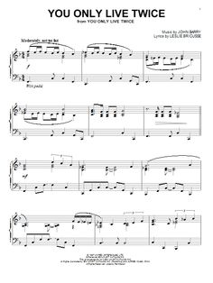 Nouvelle partition piano sur Modern Score !    John Barry: You Only Live Twice - Partition Piano Solo    #sheetmusic #piano #JohnBarry #Barry