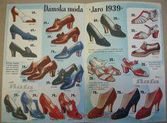 Katalog Baťa Novinky JARO 1939, 1939 Flappers, Shoe Rack, Film Noir, Shoe Racks