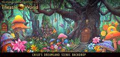 Can I please live here? #TheatreWorldBackdrops#Handpainted #Fairy #Fairies #Mushrooms