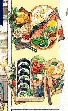 Korean Food Breakfast - Food Cravings Alternatives - Indian Food Logo - Food And Drink Lunch - - Keto Southern Food Cute Food Drawings, Cute Kawaii Drawings, Cute Food Art, Cute Art, Food Art Painting, Arte Peculiar, Watercolor Food, Watercolour Flowers, Watercolor Ideas