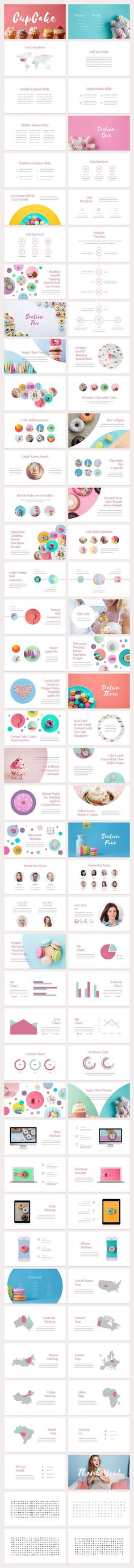 CupCake is a personable, creative and clean presentation template for both PowerPoint and Keynote