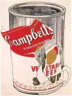 campbells soup by andy warhol. Go to www.aubreys642.com to read a story about this can o soup.