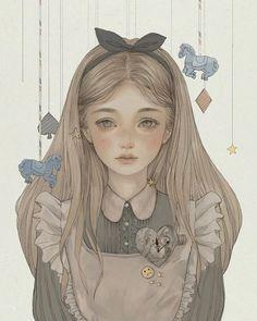 Alice In Wonderland - one of my favorite books! Alice In Wonderland Aesthetic, Alice In Wonderland Drawings, Adventures In Wonderland, Disney Kunst, Disney Art, Alice Liddell, Arte Sketchbook, Princesas Disney, Anime Art Girl