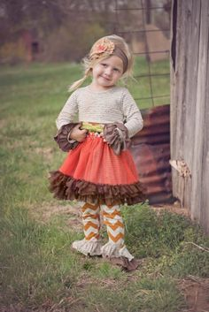 Fall Blossom Tutu Dress & Legging Set 9 Months to 5 Years Now in Stock at Cassie's Closet