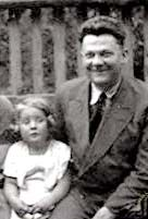 Hana Brady when she was younger with her father