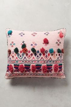 Tufted Leyland Cushion #AnthroRegistry