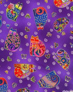 Laurel Burch, Fabulous Felines via equilter.co