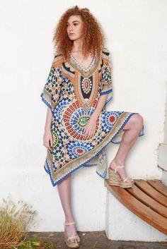 1a21eb54e7 Maxi Kaftan, Boho Chic, Beachwear, Beach Playsuit, Outfit Beach, Beach  Outfits. Kitten Beachwear