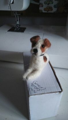 Little jack russel dog that I have needle felted