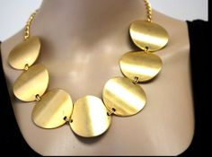 Vintage KJL Signed Couture MASSIVE Gold Plated Articulated Chain Link Necklace