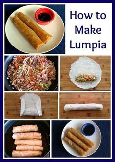 Filipino Recipes, Asian Recipes, Lumpia Recipe Filipino, Easy Lumpia Recipe, Banana Lumpia Recipe, Guam Recipes, Chamorro Recipes, Yummy Appetizers, Appetizer Recipes