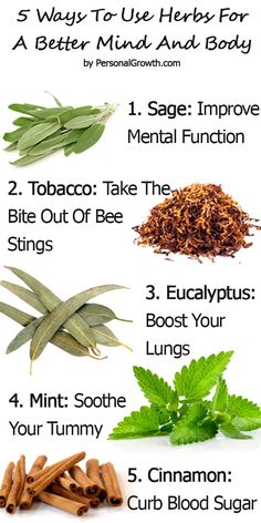 Here Are 5 Ways To Use Herbs For A Better Mind And Body. Click The Image For Detailed Information.