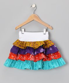 Autumn Patchwork Tiered Ruffle Skirt - Infant, Toddler & Girls