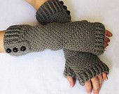 CROCHET PATTERN: Fingerless Gloves (Sizes Adult Small to X-Large) Permission to sell finished items. $4.99, via Etsy.