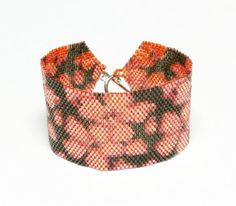 Браслет из японского бисера Кармен. Плетеный из от Myamazingbeads, $48.00