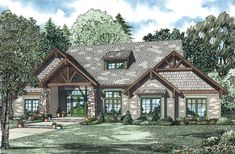 COOL house plans offers a unique variety of professionally designed home plans with floor plans by accredited home designers. Styles include country house plans, colonial, Victorian, European, and ranch. Blueprints for small to luxury home styles. House Plans One Story, House Plans And More, Dream House Plans, Story House, House Floor Plans, Craftsman Style House Plans, Country House Plans, Craftsman Homes, Craftsman Exterior