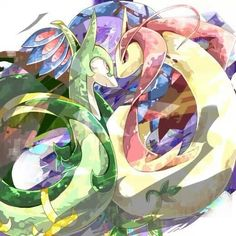 Serperior and Milotic