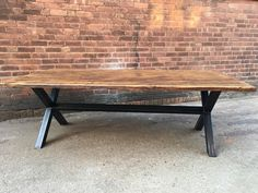 Reclaimed Industrial Chic XX 10-12 Seater Solid Wood and Metal