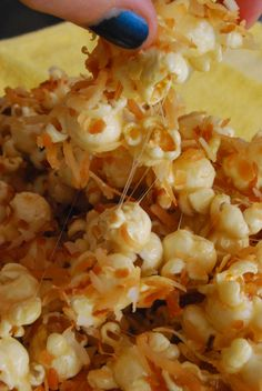 Caramel Coconut Marshmallow Popcorn or when you're watching Harry Potter... Coconut Butterbeer Popcorn!