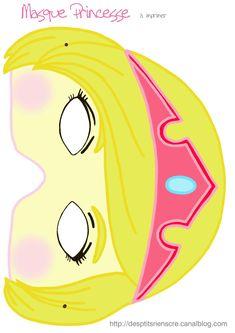 masque princesse à imprimer
