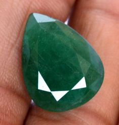 Natural Emerald Pear Cut 19x14 mm 11.91 CTS Certified Faceted Dark Green Shade Loose Gemstone Natural Emerald, Shades Of Green, Loose Gemstones, Pear, Rings For Men, Unique Jewelry, Handmade Gifts, Vintage, Etsy