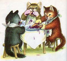 garth williams :: three little kittens