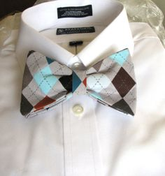 MENS Bow Tie. Argyle. Gifts for Guys   Mens Ties  Bowties   Guy Gifts  Groom Gifts  Best Man / Wedding Attire/