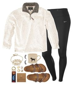 """""""I LOVE HEB SOOO MUCH"""" by conleighh ❤ liked on Polyvore featuring NIKE, True Grit, Rimini, Birkenstock, Dogeared, Banana Republic, Kate Spade and C. Wonder"""