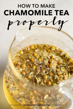 Chamomile tea is a popular herbal drink made from dried chamomile flowers steeped in water. See how to make this caffeine-free herbal tea. Chamomile Tea Benefits, Flower Tea, Tea Blends, How To Make Tea, Tea Recipes, Cooking Recipes, High Tea, Herbalism, Easy