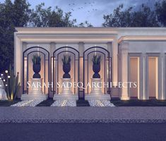 Facade Design, Exterior Design, Modern Classic Interior, Classic Building, Classic Architecture, Building Facade, Outdoor Landscaping, Luxury Villa, Home Fashion