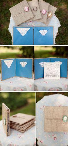 Beautiful Burlap | Easy to Make Wedding Invitation Ideas