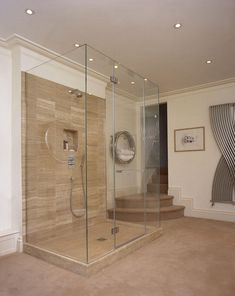 A great example of how using a bespoke, coloured shower tray to match the tiling of your shower can make a real difference. Frameless Shower Enclosures, Frameless Shower Doors, Glass Shower Doors, Shower Screens, Glass Showers, New Bathroom Ideas, Glass Bathroom, Bathroom Stuff, White Bathroom