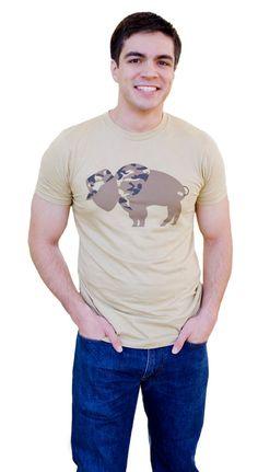 Men's Tshirt Veteran Camouflage Buffalo Unisex by InspiredBuffalo, $20.00