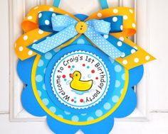 Rubber Ducky Door Hanger Welcome Door Sign by thepaperkingdom, $13.00