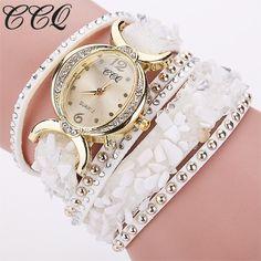 CCQ Leather Bracelet Women Rhinestone Quartz Watches Wrist Watch Gifts 1776 #sheerbliss #bestoftheday #fashion #watches #beautiful