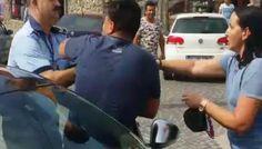 VIDEO – Atentie! Limbaj vulgar. Politist agresat in piata, dupa un scandal provocat de un tanar si de mama acestuia Scandal
