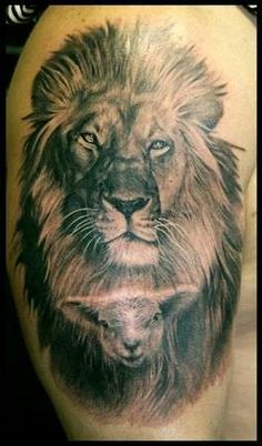 My next tattoo! lion and lamb tattoo | Report as Inappropriat
