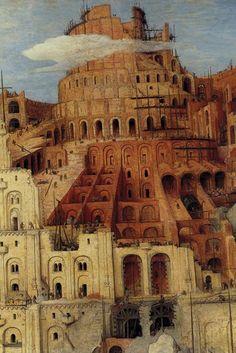 Tower of Babel, detail No. 6, by Pieter Bruegel the Elder
