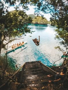 Siargao is a small island in the Philippines that from first glance may seem to have no cliff jumping opportunities. Jumping Pictures, Vacation Trips, Vacation Travel, Vacation Ideas, Vacations, Honeymoon Ideas, Places To Travel, Travel Destinations, Siargao Island