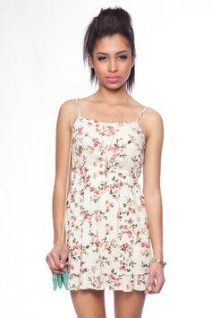 Late Bloomer Tank Dress in Beige $34 at www.tobi.com