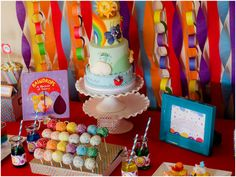 Colorful Raindrops Rainbow Party
