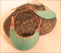 Sleek and Bold Handsawn & Patina Copper OOAK by CherieLongDesigns, $30.00