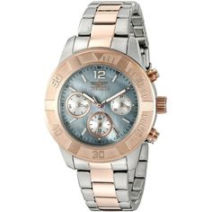 Invicta Women's 'Angel' Swiss Quartz Stainless Steel Casual Watch... ($80) ❤ liked on Polyvore featuring jewelry, watches, invicta wrist watch, two tone jewelry, stainless steel wrist watch, 2 tone watches and invicta watches