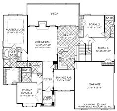 Avondale Park (b) - Home Plans and House Plans by Frank Betz Associates