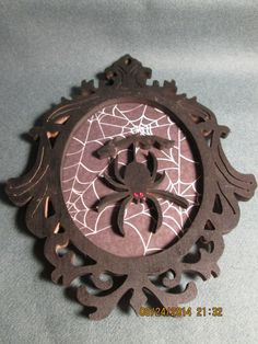 Silhouette Hanging Spider Portrait Wall Plaque Hanging Decoration (plaque holder not included) by PXWoodNJoys on Etsy