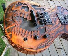 Amazing Guitar carving